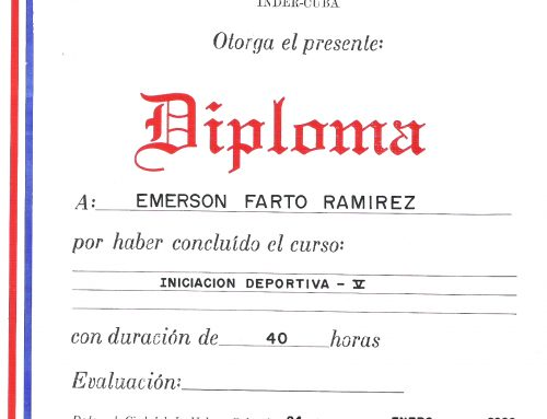 ESPECIALIZACIÓN EN TEORÍA DEL ENTRENAMIENTO DEPORTIVO – CUBA
