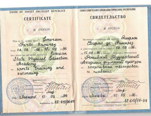 ESPECIALIZACIÓN EN ENTRENAMIENTO DEPORTIVO EN RUSIA