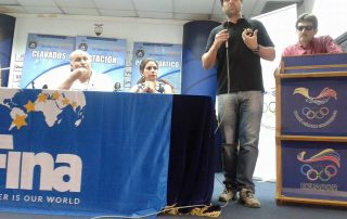 Clinica de Natação no Equador