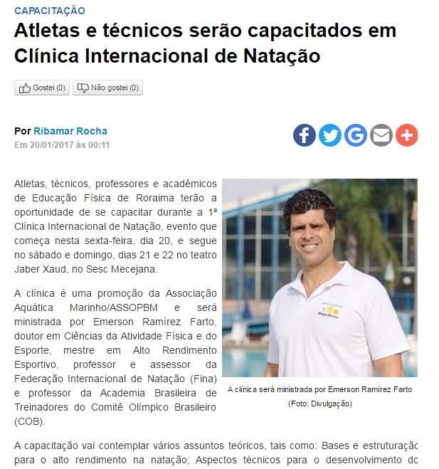 clinica de natación en Brasil